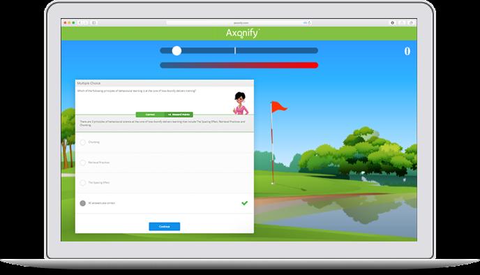 Axonify Platform screenshot showing goal tracking