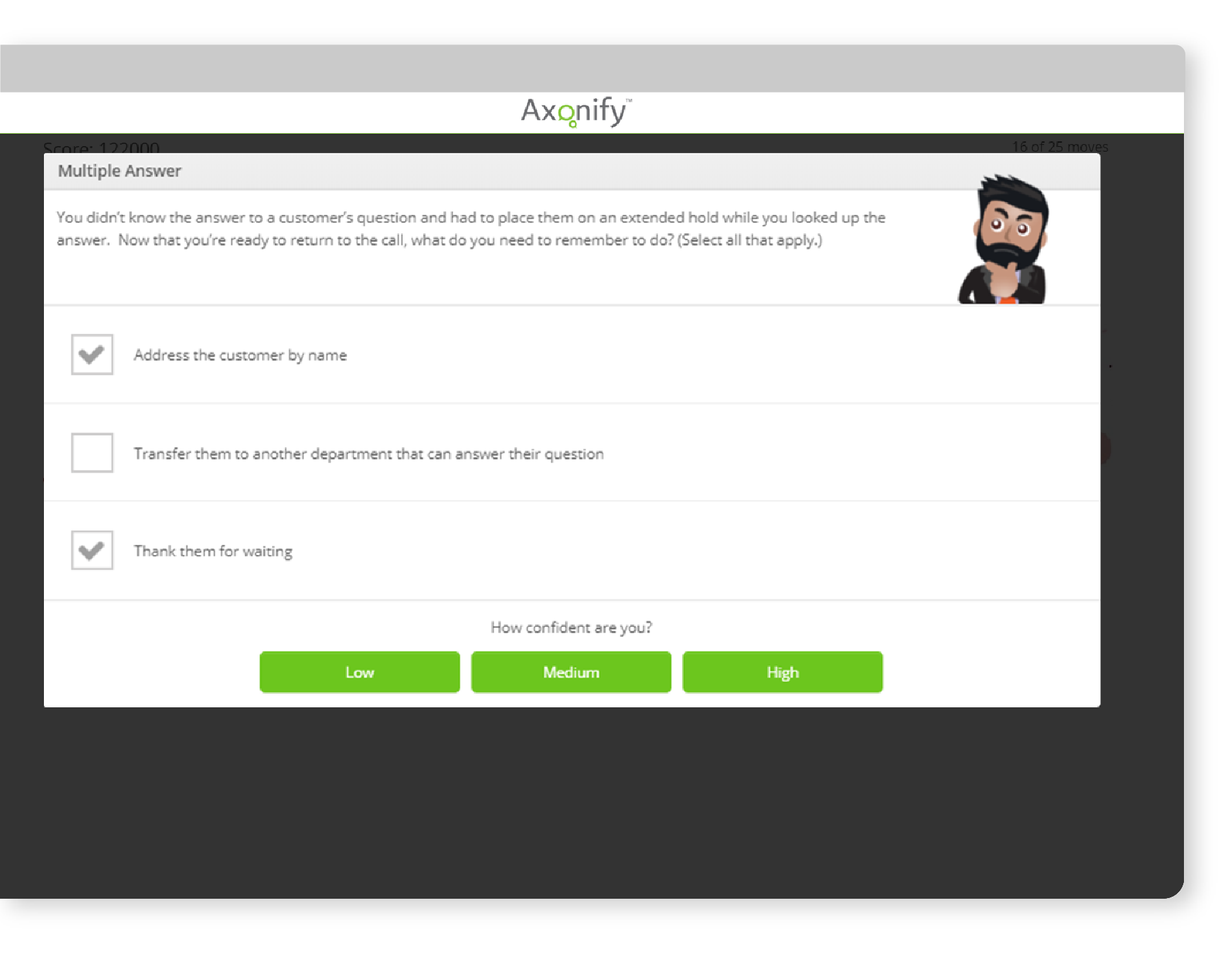Contact Center Training- Platform Screenshot