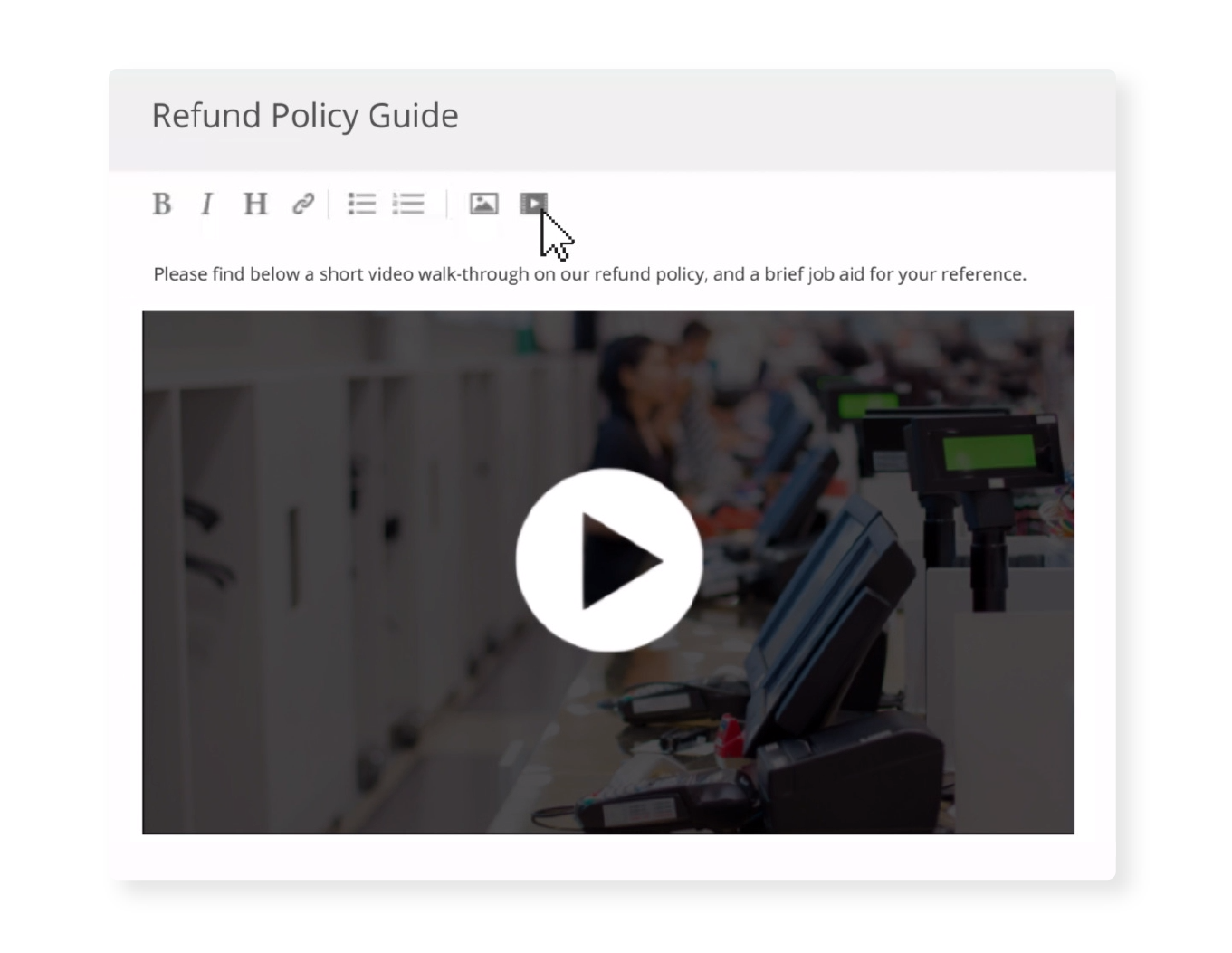 Platform Content Example: Refund Policy Guide
