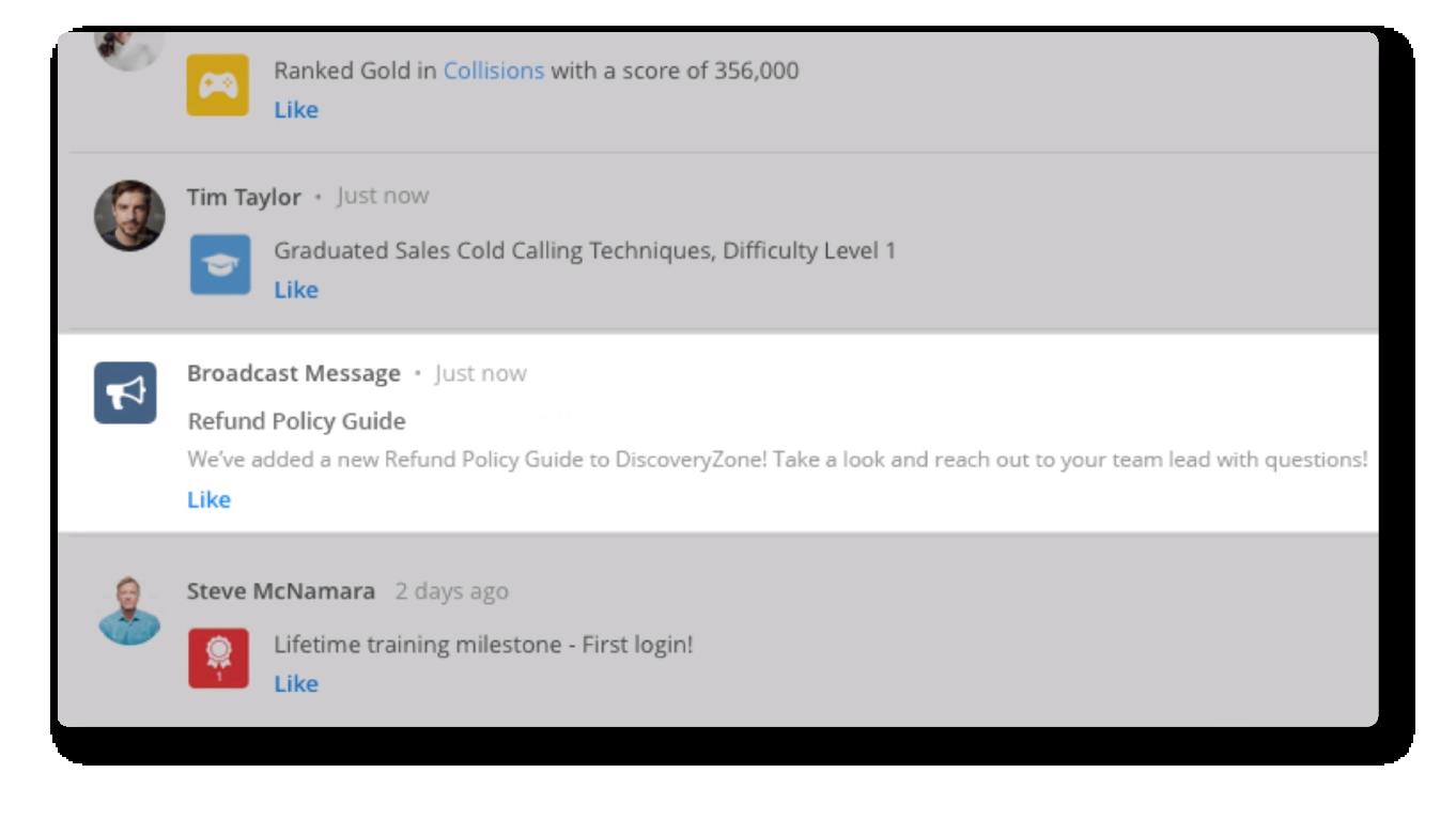 Broadcast Message Platform Feature