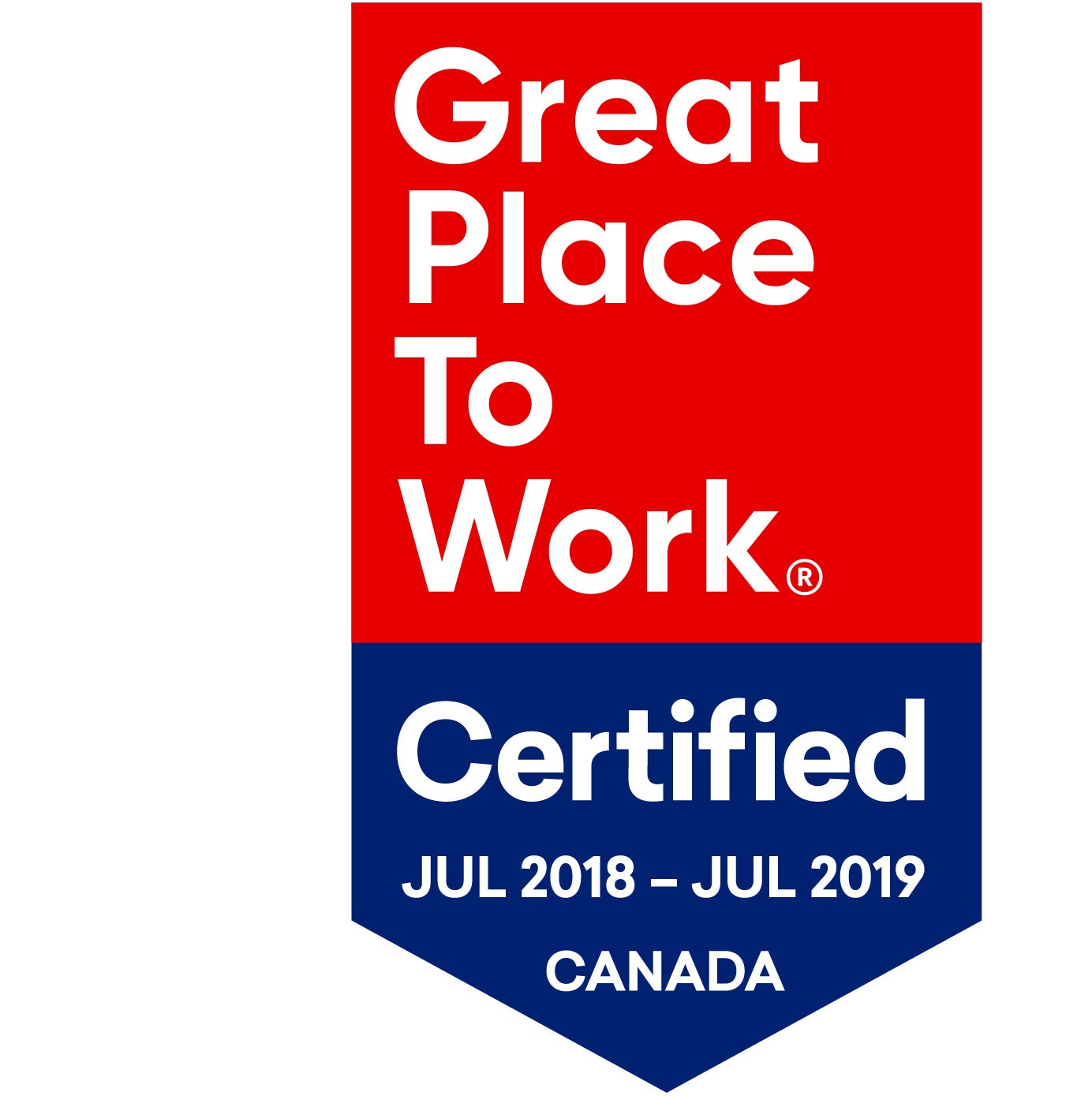 2018-2019 Great Place To Work Certified