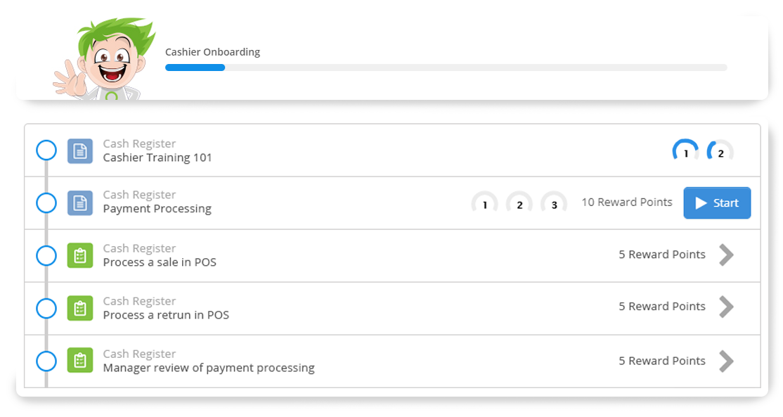 Screenshot of Axonify Guided Learning