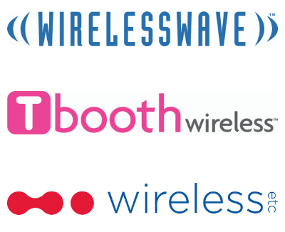 Glentel brand logos—WIRELESSWAVE, Tbooth wireless, WIRELESS etc.