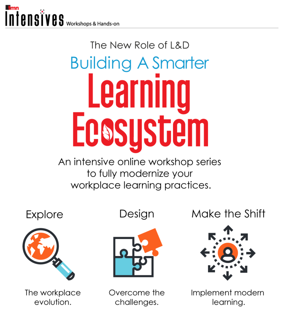 The New Role of L&D: Building a Smarter Learning Ecosystem promotional graphic