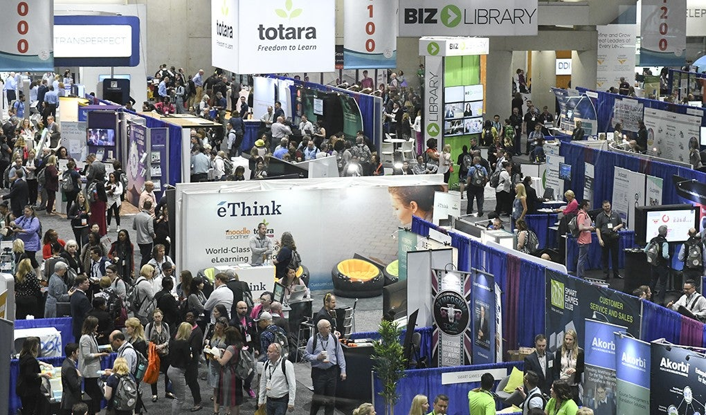 The expo hall at ATD 2018 International Conference and EXPO