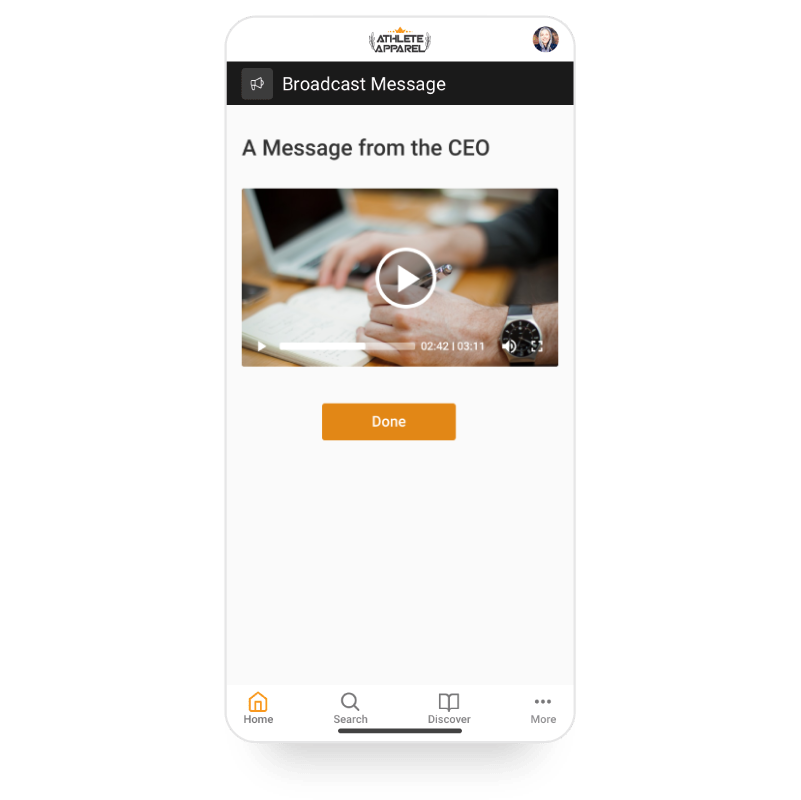 Broadcast mobile screen