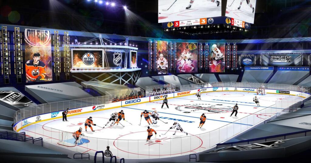 Illustration of an NHL game