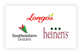 Southeastern Grocers, Longo's and Heinen's logos